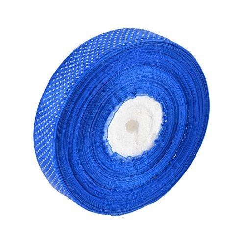 eDealMax Poliestere Stampa Dot Wedding Decor raso del nastro del mestiere di cucito 98 Yards 2,5 centimetri Larghezza Royal Blue
