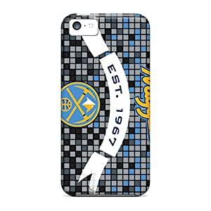 New EQPtx8456qKoHg Denver Nuggets Skin Case Cover Shatterproof Case For Iphone 5c