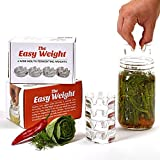 The Easy Weight - Fermentation Weights with Grooved Handles - Small Batch Sauerkraut, Pickles or Other Fermented Foods- Fermenting for ANY Wide Mouth Mason Jars (4 Pack)