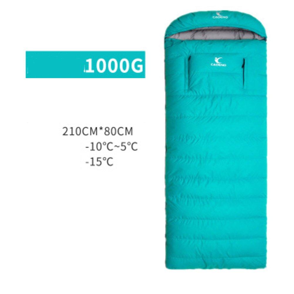 屋外 キャンプ ダウン 寝袋 シュラフ,大人 超軽量 グース羽毛 厚く 迷彩 封筒 寝袋屋外 軽量ポータブル B07DRBQN47 R R