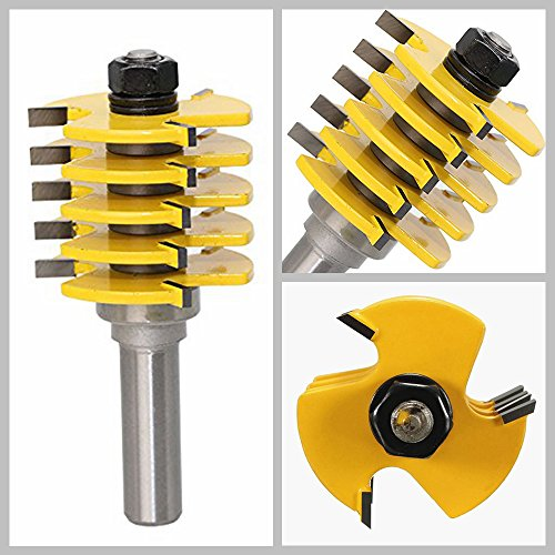 HDDU 1/2 inch Shank Drill Bit Rail and Stile Finger Joint Glue Router Bit Cone Tenon For Woodwork Cutter Tool by HDDU (Image #1)