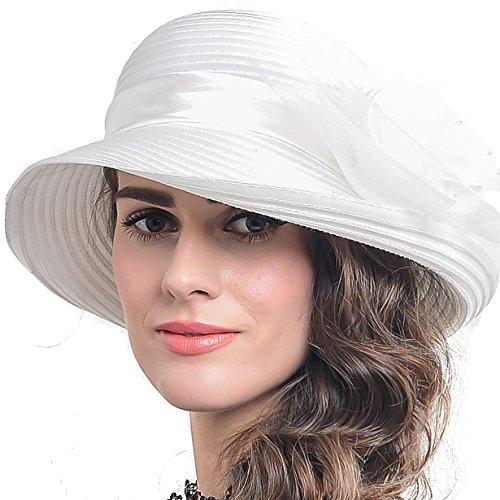 (FORBUSITE Church Kentucky Derby Dress Hats for Women S613)
