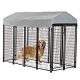 dog run house BestPet Heavy Duty Dog Cage -Outdoor Pet Playpen - This Pet Cage is Perfect for Containing Small Dogs and Animals. Included is a Roof and Water-Resistant Cover
