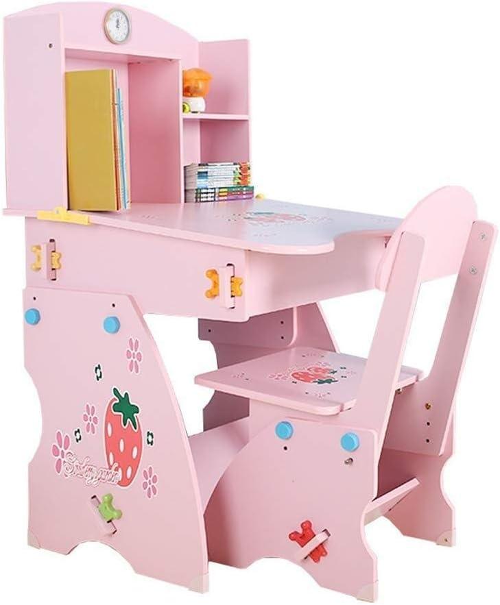 Mesa de estudio para niños y set de sillas, Baby Booster Seat - Juego de mesa y silla for niños, mesa de trabajo de escritorio ajustable for el estudio de los estudiantes
