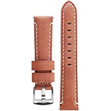Signature Mayday Wood 20 mm Calfskin Watch Band Calf Leather Watch Strap Replacement Bracelet
