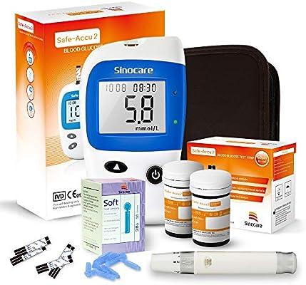 Sinocare - Tiras de prueba de azúcar en sangre (para pruebas de glucosa en sangre Safe-Accu2): Amazon.es: Salud y cuidado personal