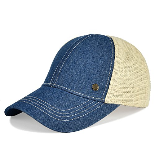 VOBOOM Linen Baseball Cap Breathabel Classic caps Men & Women (Blue) (Blu Classic Cap)