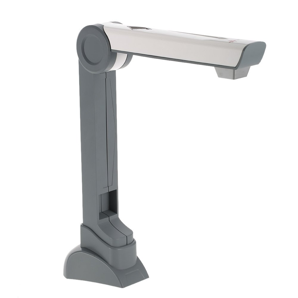 Walmeck Camera Scanner Portable Document Camera Scanner (5 Mega-pixel) High Definition Image Capture Device Video Record LED Light for Files Photos Real Objects