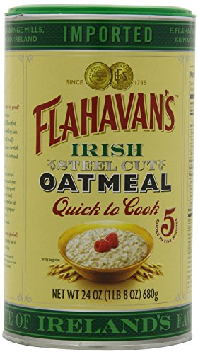 Flahavan's Irish Steel Cut Oatmeal Quick to Cook, 24 Ounce (Pack of 6)