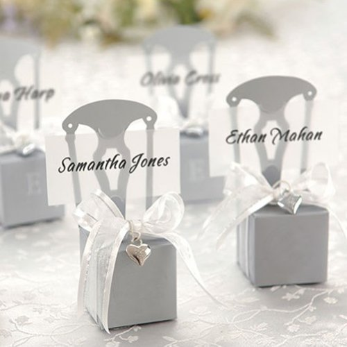 Aspire 200 PCS Wedding Favor Boxes Place Card Holders Chair Party Favor Candy Box Small Gift ()
