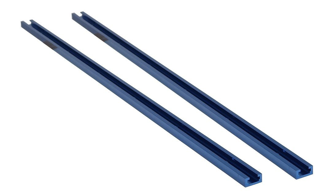 POWERTEC 71119 Double-Cut Profile Universal T-Track with Predrilled Mounting Holes(2-Pack), 36''