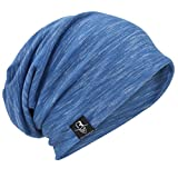 VECRY Mens Thin Cool Slouch Summer Beanie Skull Cap (Blue)