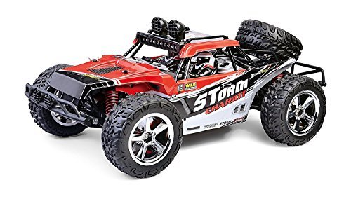 FSTgo 1/12 Radio Controlled Racing Cars, High Speed RC Car 35MPH+ Desert Buggy 4×4 Fast Race Cars RTR Racing 4WD ELECTRIC POWER 2.4GHz Radio Remote Control Off Road Truck (Red)