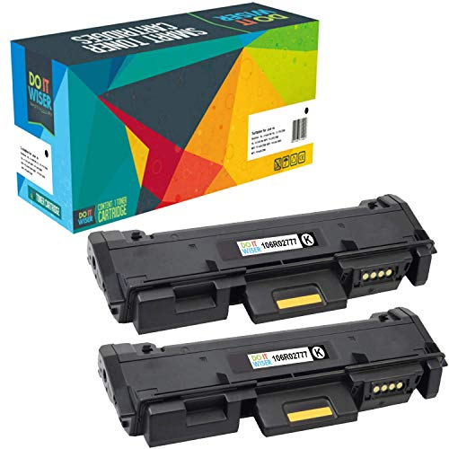 Do it Wiser Compatible Toner Cartridge Replacement for Xerox 106R02777 Phaser 3260 3260DI 3260DNI 3052 WorkCentre 3215 3215NI 3225 3225DNI - High Yield 2 Pack - 3,000 Pages ()