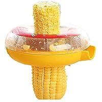 Yamde New Corn Threshing Stripping Round Corn Stripper Thresher Kitchen Utensil Tool (Color: Yellow)