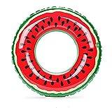 Gymforward Adult Giant Watermelon Swim Ring Inflatable Pool Loungers 32inch
