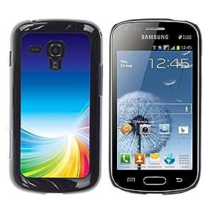 TopCaseStore / la caja del caucho duro de la cubierta de protección de la piel - Colorful Tornado - Samsung Galaxy S Duos S7562