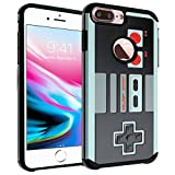 iPhone 8 Plus Case, DURARMOR NES Game Controller Dual Layer Hybrid ShockProof Ultra Slim Fit Armor Air Cushion Defender Protector Cover for iPhone 8 Plus NES