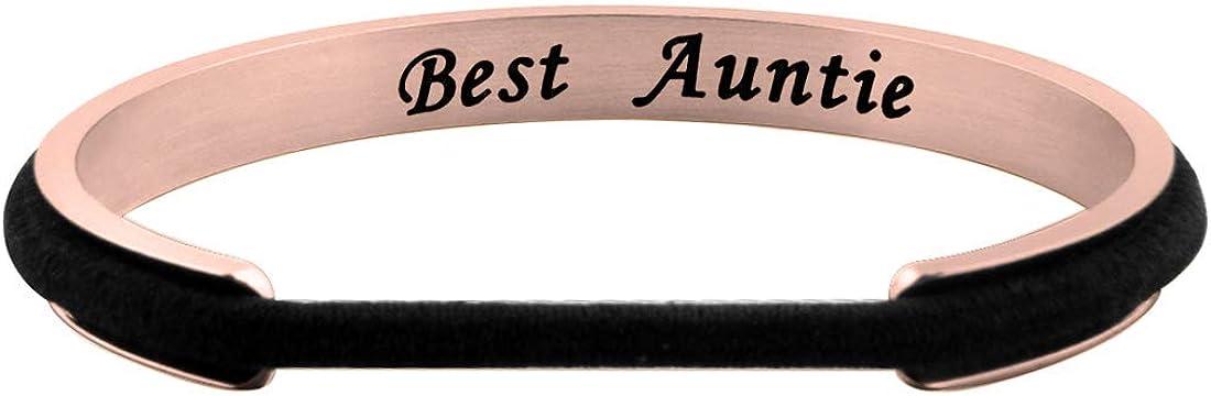 Zuo Bao Best Auntie Bracelet Hair Tie Bracelet Gift for Auntie from Nephew Niece Jewelry