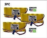 3PC Sure-Lites SL026139, 026-139,17934-P, Emergency Lighting Battery