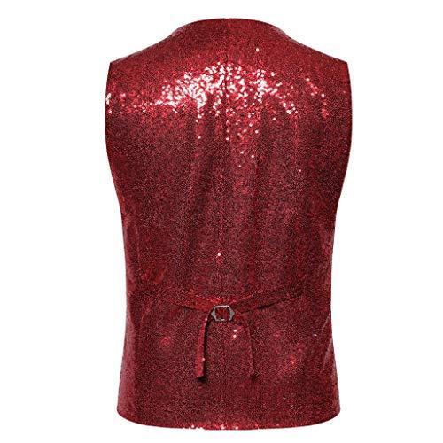 Rouge D'extérieur Veste Blazer Xmiral Tenue Costume Mariage Homme Style Entreprises nvzOFzq
