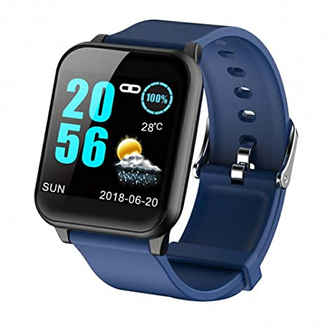 WTGJZN greentiger Z02 Smart Watch Waterproof reloj inteligente Rate Monitor Fitness Tracker,Blue