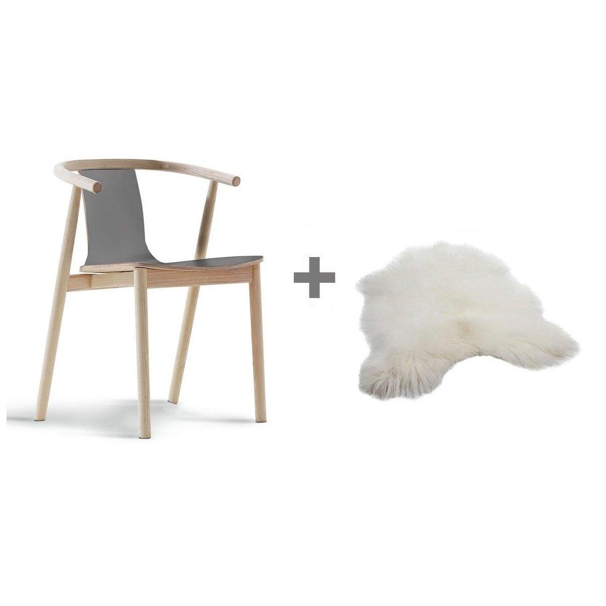 prezzi al dettaglio vendita di liquidazione 100% di alta qualità Cappellini aktions Set BAC Sedia con braccioli + Fell, in legno di ...