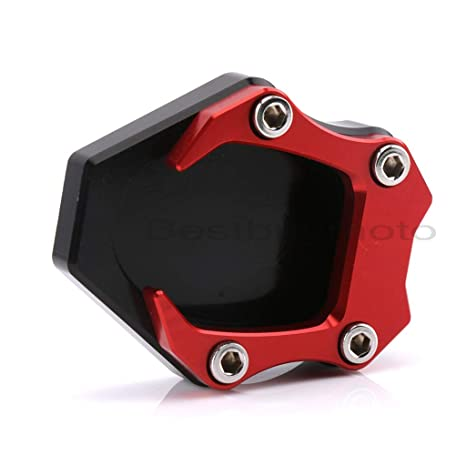 waase Motorcycle Kickstand Foot Side Stand Extension Pad Support Plate For Suzuki V-Strom 1000 DL1000 2014 2015 2016 2017 2018 Red