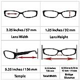Reading Glasses 1.0 Best 4 Pack Black Readers for