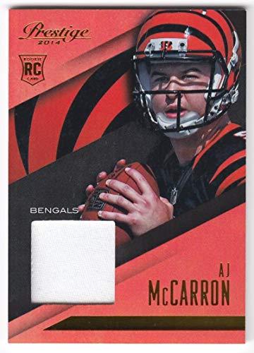 AJ McCarron 2014 Panini Prestige Rookie Jumbo Patch JSY #12 NM-MT RC Rookie MEM Bengals Football NFL from Prestige