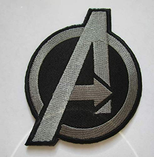 Application The Avengers Movie Age of Ultron Captain America A Military Patch Fabric Embroidered Badges Patch Tactical Stickers for Clothes with Hook & Loop (color1) (Diy Captain America Shirt)