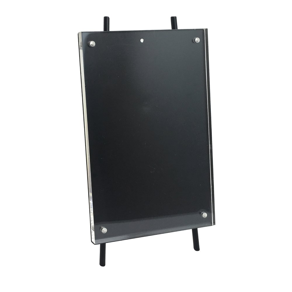 Isaac Jacobs 5x7 Black Magnetic Acrylic Metal Easel Frame (5x7 Vertical) (Black) by Isaac Jacobs International