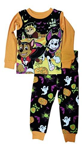 Paw Patrol Little Boys Girls Toddler Halloween Pajama Set (4T)