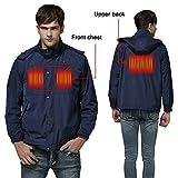 Autocastle Cordless Heated Jacket,Electric Heating Clothing Male Jacket