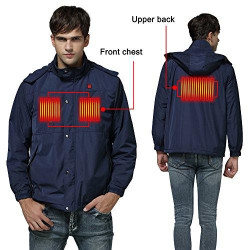 Autocastle Cordless Heated Jacket,Electric Heating Clothing Male Jacket by Autocastle