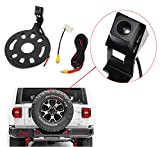 REDWOLF Rear View Backup Camera Spare Tire Mount For Jeep Wrangler 2009-2016 Standard RCA Plug Tire Reversing Camera With Turn on/off Guideline Waterproof