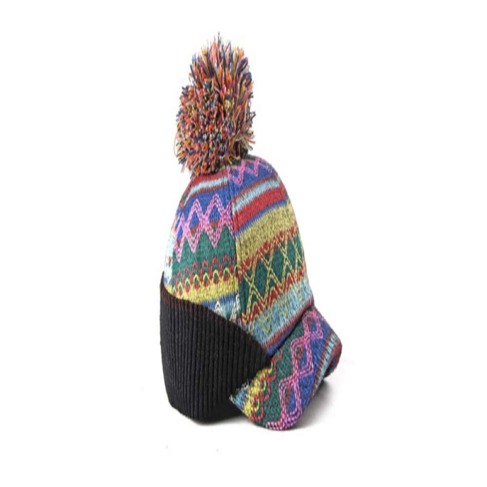 SELYFashion Cap Ladies Knit hat Warm Ear Protection Ball Baseball Cap Outdoor Leisure Cap Yellow