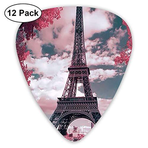 V5DGFJH.B Paris Eiffel Tower Classic Guitar Pick Player's Pack for Electric Guitar,Acoustic Guitar,Mandolin,Guitar Bass -