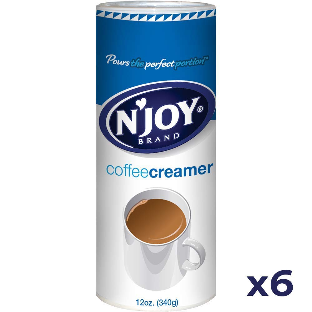 N'Joy Coffee Creamer, Non Dairy, 12 Ounce (Pack of 6)