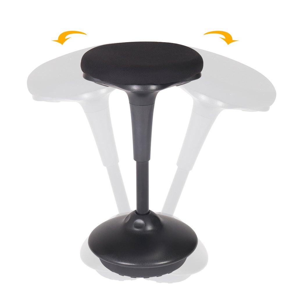 Zenith Adjustable Standing Desk Chair Wobble Stool Ergonomic Stability Office Chair Task Chair(Black) (Black)