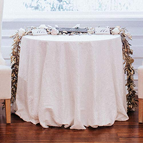 QueenDream Popular Sequin tablecloth On sale! Sequin Shimmer Tablecloth 132