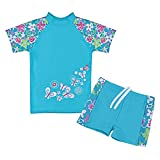 #10: TFJH E Girls Swimsuit Blue 3-12 Years UPF 50+ UV