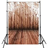 Mohoo 5x7ft Vinyl Photography Background Nostalgia Wood Floor Photo Backdrop Studio Props