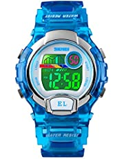 Kid Watch Multi Function 50M Waterproof Sport LED Stopwatch Digital Child Wristwatch for Boy Girl