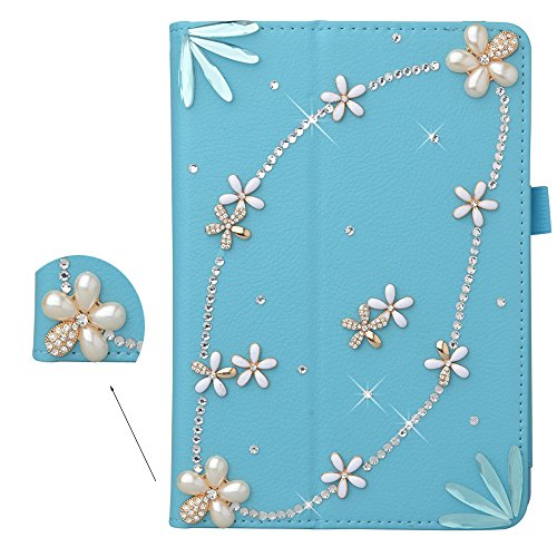 Spritech(TM) 3D Bling Diamond Crystal Case Premium Leather Standing Folio Case Cover For Acer Iconia A1-830 7.9