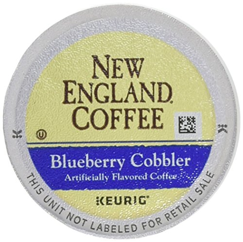 New England Coffee Blueberry Cobbler, Single Serve Coffee K-Cup Pods, Medium Roast, 12 count (pack of 6)