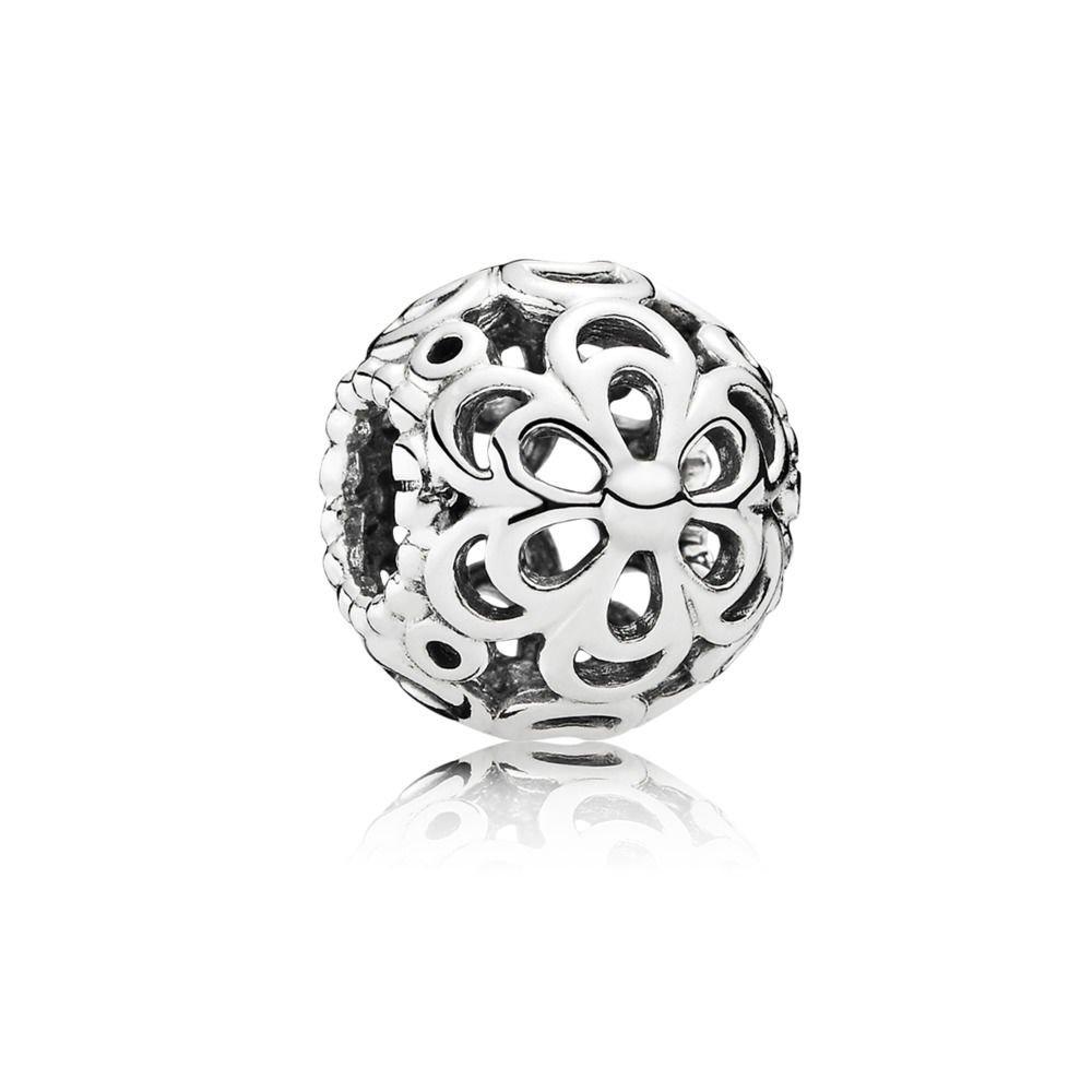 Pandora Women's Genuine Sterling Picking Daisies Charm 790965, Silver
