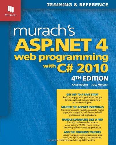 Read Online Murach's ASP.NET 4 Web Programming with C# 2010 (Murach: Training & Reference) ebook