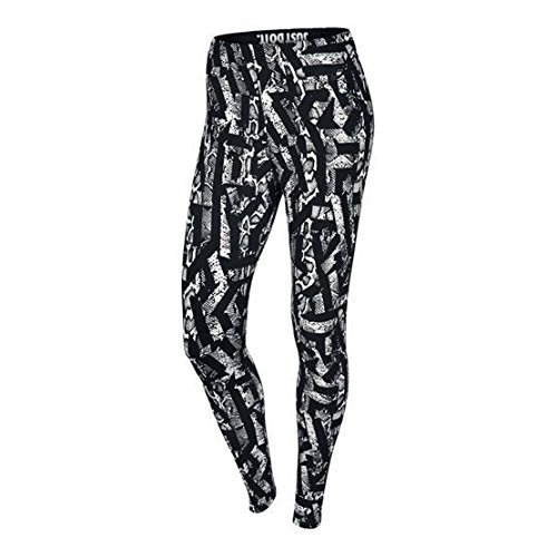 Nike Womens Leg A See All Over Printed Casual Tights-Black/White-Small