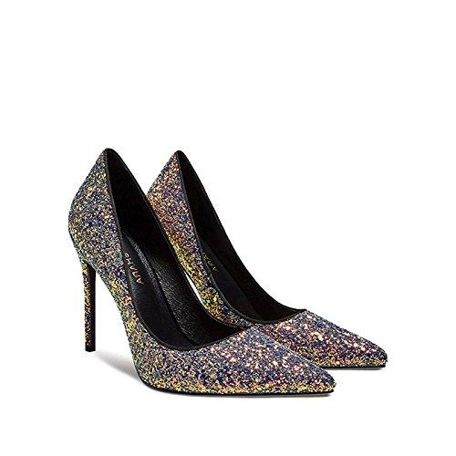del Aguja Punta De Cómodos Magiccolor La Color La Bombas Ladys De De La De Noche De De De La Mujer Boda Zapatos La Moda Zapatos De La Magia vwxx8BzqA